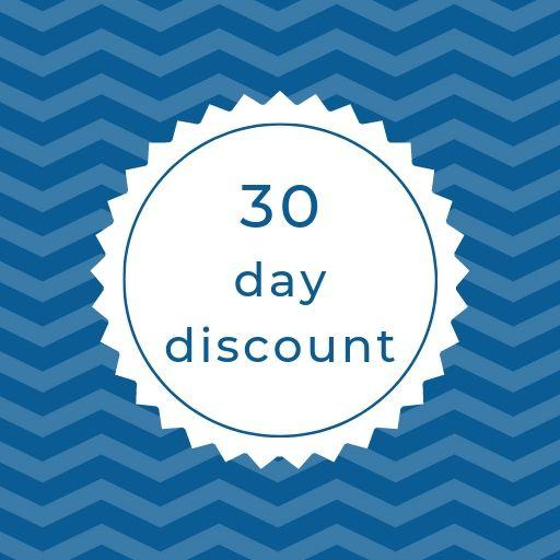 Discounted prices starts from 4.83€ / per day for your reservations more than 30 Days !