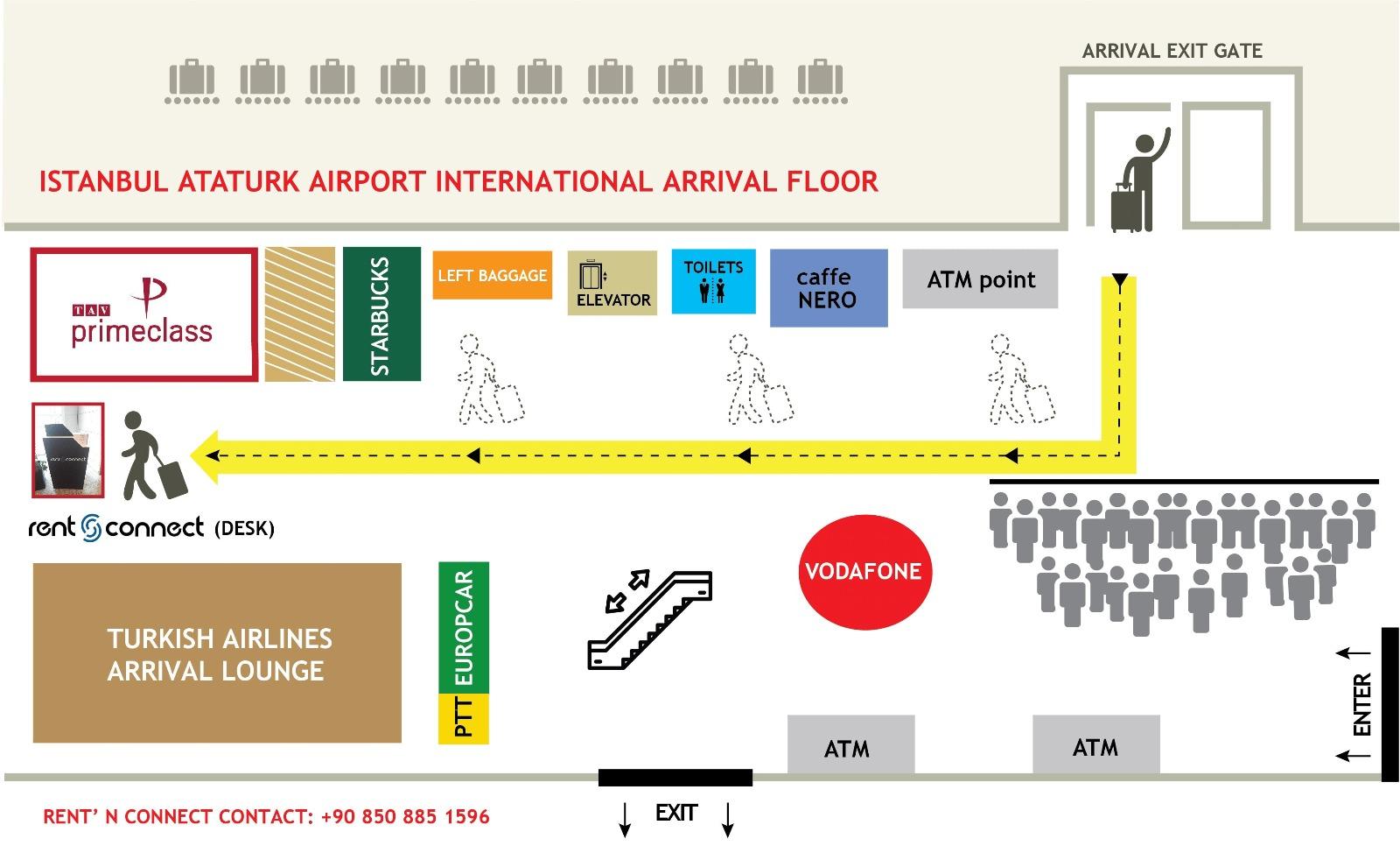 Ataturk Airport Map